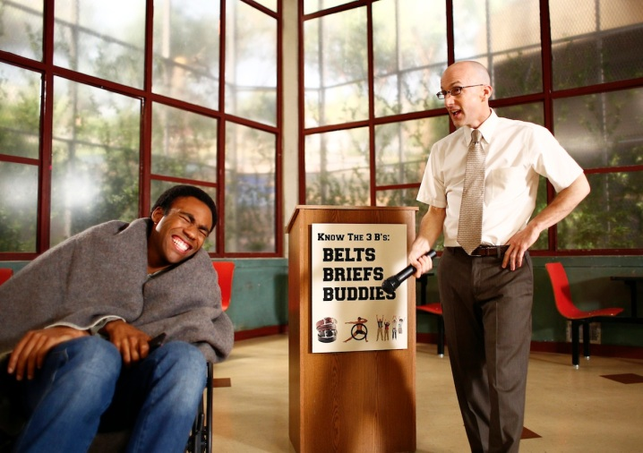 Donald Glover & Jim Rash in Community